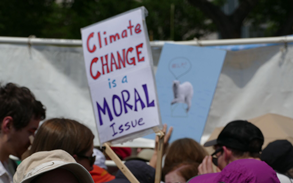 Climate a moral issue