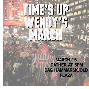 Time's Up Wendy's March