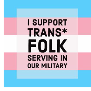 We support Transgender folks